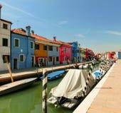 Burano, un'isola nella laguna veneziana Immagine Stock Libera da Diritti