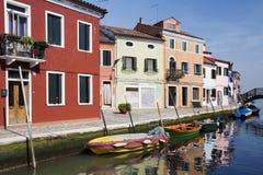 Burano Venecia Italia Foto de archivo