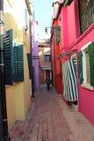 Burano Venecia Italia Fotografía de archivo libre de regalías