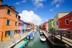 Burano, Venecia, Italia Imagen de archivo libre de regalías