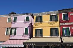 Burano Venedig fotografering för bildbyråer