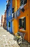 Burano, Venedig Stockbild