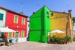 Burano, Venedig-Insel, bunte Stadt in Italien Lizenzfreie Stockfotos