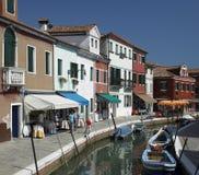 Burano - Venedig - Italien Arkivbild