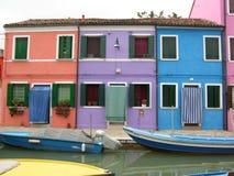 Burano Venetië Italië Stock Foto's