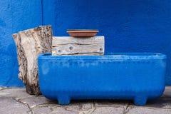 Burano, Venetië, Italië Stock Foto's