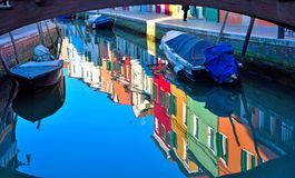 Burano, Venetië, Italië stock afbeelding