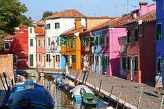 Burano Veneza Fotos de Stock Royalty Free