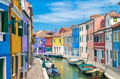 Burano Veneza Foto de Stock Royalty Free