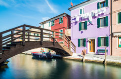Burano Veneza Vêneto Italia Europa foto de stock