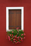 Burano - Venice - 1. Window of one of the colored houses in Burano - Venice - Italy Stock Images