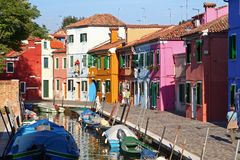 Burano Venice. A Burano Venice Italy view royalty free stock photos