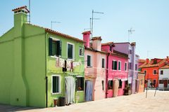 Burano (Venice island) colorful town in Italy Royalty Free Stock Photography
