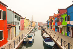 The Burano in Venice Stock Photos