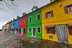 Burano - Venice, Italy. Colorful houses and canals of the island of Burano in Venice, Italy Royalty Free Stock Photos