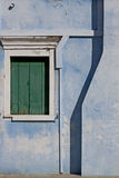 Burano, Venice lagoon :detail of a painted house Royalty Free Stock Images