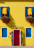 Burano, Venice lagoon - yellow house Stock Photo