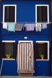 Burano - Venice painted walls Royalty Free Stock Photos