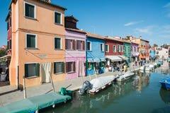 Burano venice veneto Italien Europa Fotografering för Bildbyråer