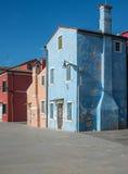 Burano venice veneto Italien Europa Royaltyfri Foto