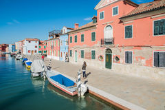 Burano venice veneto Italien Europa Arkivfoto