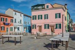 Burano venice veneto Italien Europa Arkivfoton