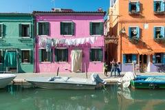 Burano Venice Veneto Italy Europe Fotografia Royalty Free