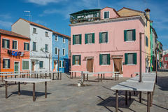 Burano Venice Veneto Italy Europe Zdjęcia Stock