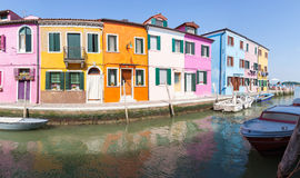 Burano, Venice, Veneto, Italy, Row of colorful fisherman houses Royalty Free Stock Image