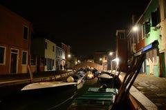 Burano A vila colorida no Laguna Venetian Fotos de Stock Royalty Free