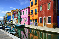 Burano village near Venise Royalty Free Stock Photos