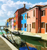 Burano village near Venise Stock Photography