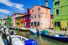 Burano village near Venise Royalty Free Stock Image