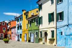 Burano village near Venise Stock Photos