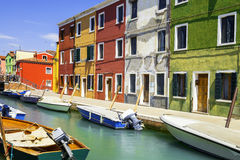 Burano village near Venise Stock Images