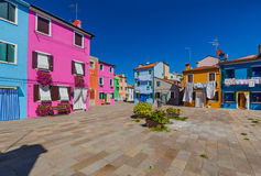 Burano village - Venice Italy Stock Photo