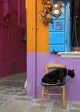 Burano in volledige kleuren Royalty-vrije Stock Foto's
