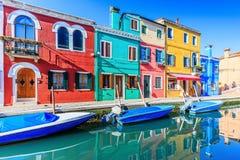 Burano, Włochy Fotografia Stock