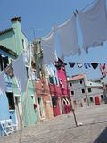 Burano washing Stock Image