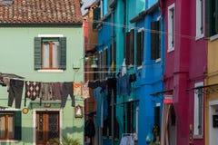 Burano Wenecja piękny miasto w świacie Fotografia Royalty Free