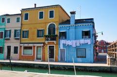 Burano, Wenecja, Włochy obrazy royalty free