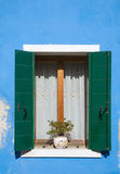 Burano, window Royalty Free Stock Photography