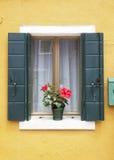 Burano window Stock Photography