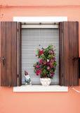 Burano window Royalty Free Stock Image