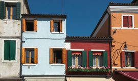 Burano. Windows. Royalty Free Stock Image
