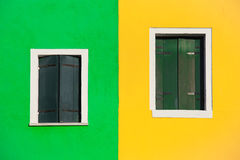 Burano windows background Stock Images