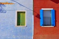 Burano windows Stock Photo