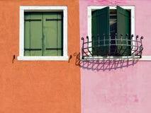 Burano windows Royalty Free Stock Images