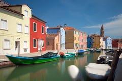 Burano wyspa, Venezia, Włochy, Europa Fotografia Stock