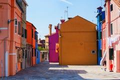 Burano wyspa, Wenecja, Włochy fotografia stock